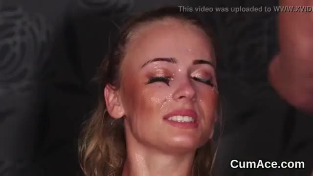 Wacky honey gets cumshot on her face sucking all the jism
