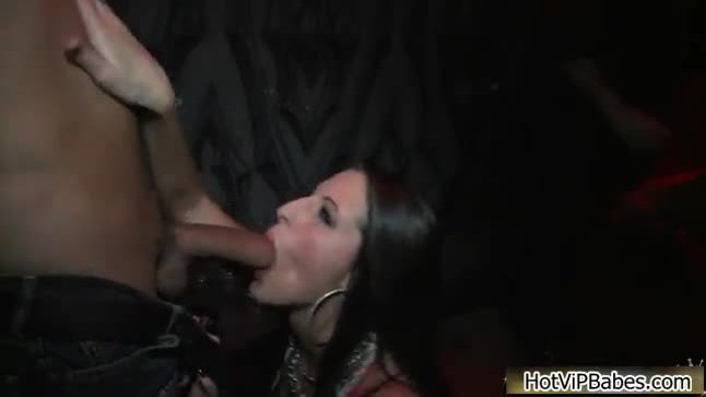 Cock loving party babe sucking big dick