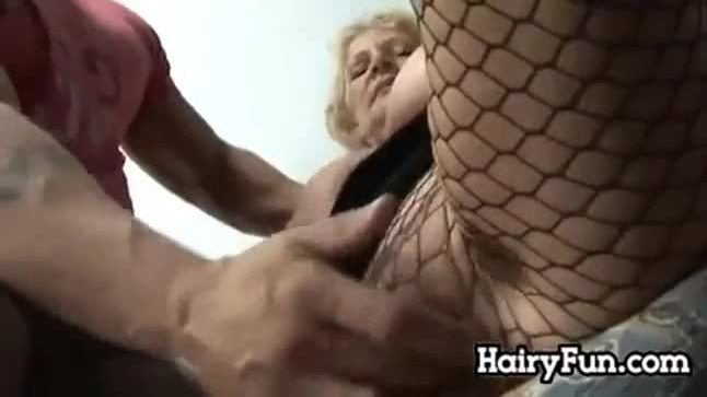 Horny and hairy granny getting fucked